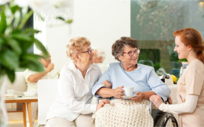 seniors woman with caregiver